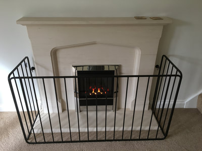 bespoke fireplace with grille