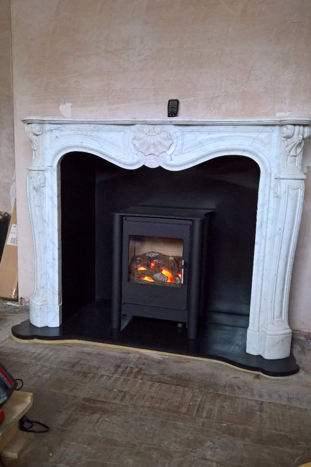 Marble Louis Fireplace Installation Essex